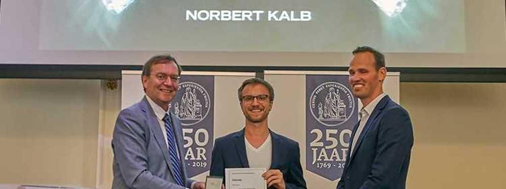 Norbert Kalb wins Steven Hoogendijk Prize 2019