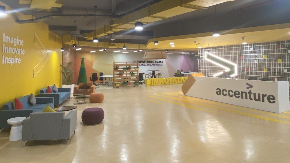 A look inside the Accenture Innovation Hub in Pune (Photo: Business Wire)
