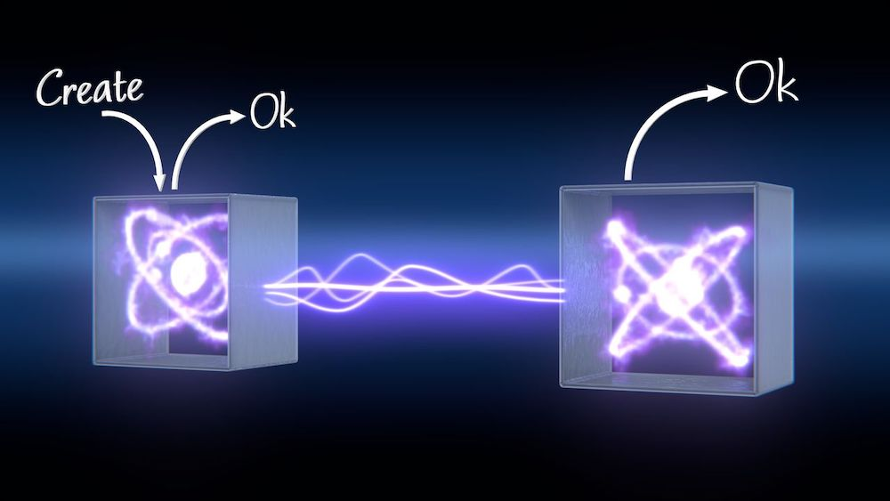 Using the link layer protocol, higher-layer software can request the creation of entanglement without needing to know which quantum hardware system is in the box. Image credit QuTech/Scixel.