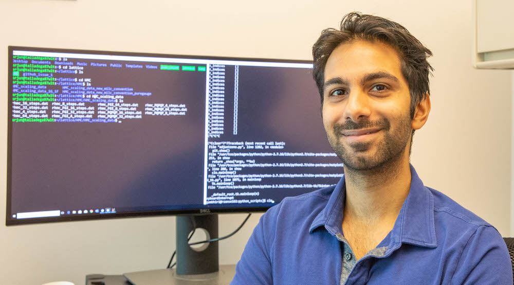 LLNL physicst Arjun Gambhir helped develop an algorithm to solve equations on a quantum computer.