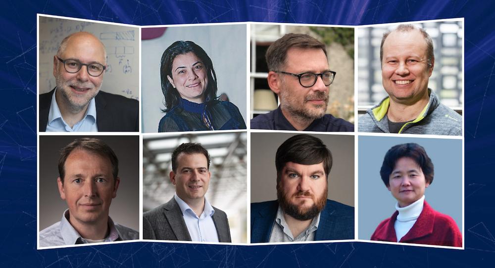 Photos from left to right: Harry Buhrman, Elham Kashefi, Iordanis Kerenidis, Troy Lee, Wim van Dam, Michele Mosca, Joe Fitzsimons, Jingbo Wang