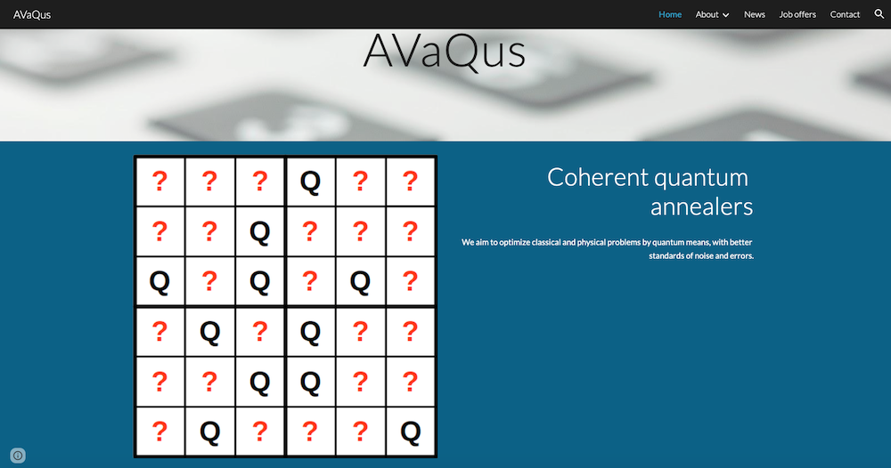 AVaQus: the European project to develop the first superconducting coherent quantum annealer