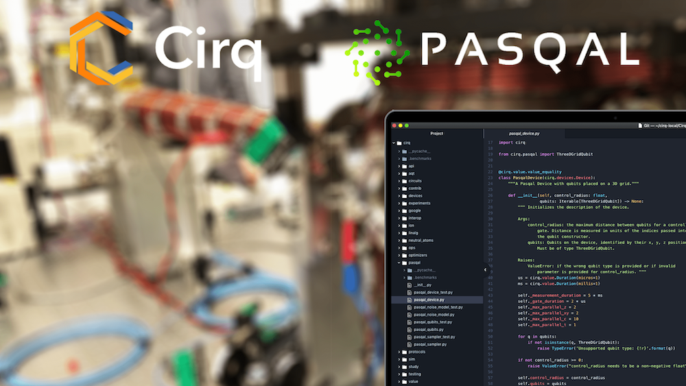 Pasqal implements Cirq to bring arrays of atoms to quantum computing software developers