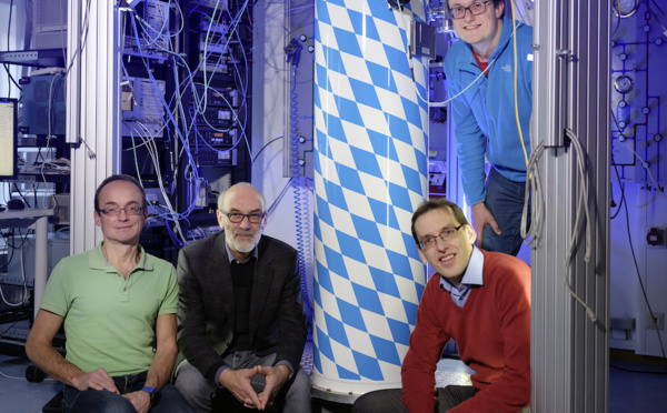 The quantum internet is within reach : Secure communication between quantum computers implemented